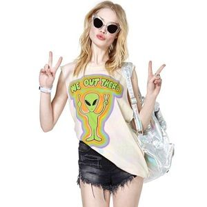 UNIF We Out There Alien Muscle Tee Shirt Tank XS